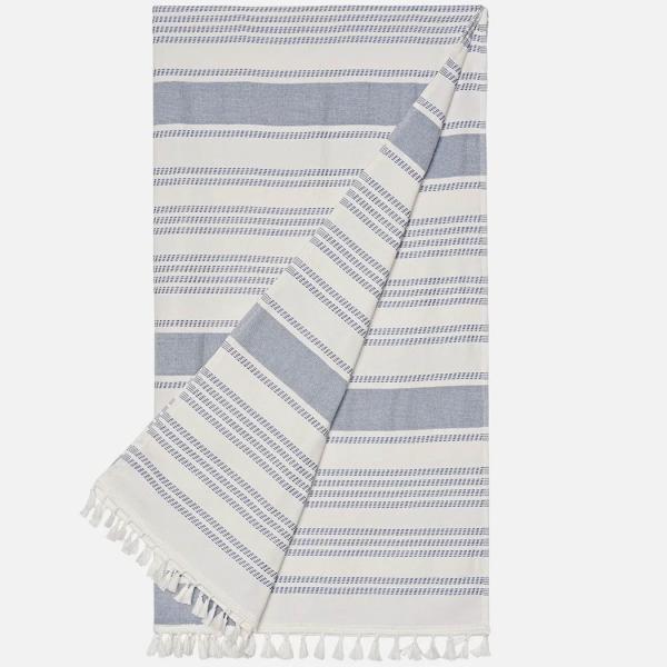 Palmers Beach Towel Ladies White Blue