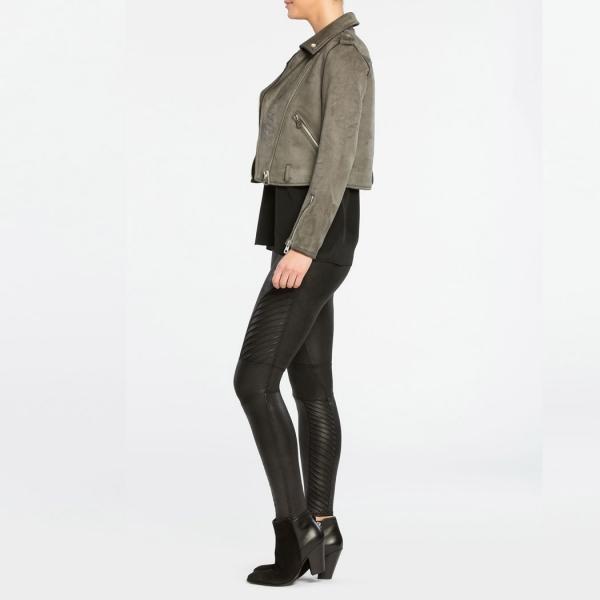 Spanx Faux Leather Moto Leggings Very Black