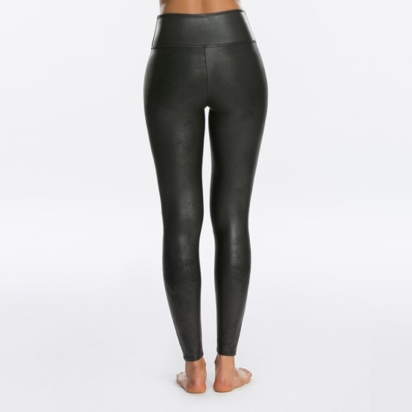 Spanx Faux Leather Leggings Very Black