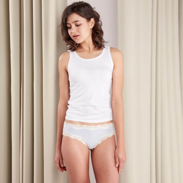 Palmers Lace And More Ladies Panty Light Blue