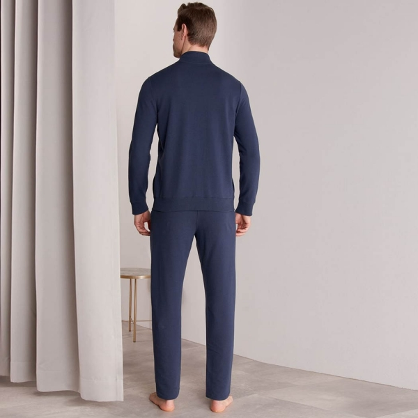 Palmers Classic Lounge Men's Homewear Jacket Dark Blue