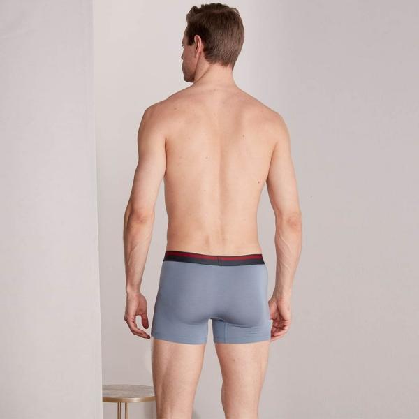 Palmers Authentic Modal Men's Boxer Shorts Grey-Black