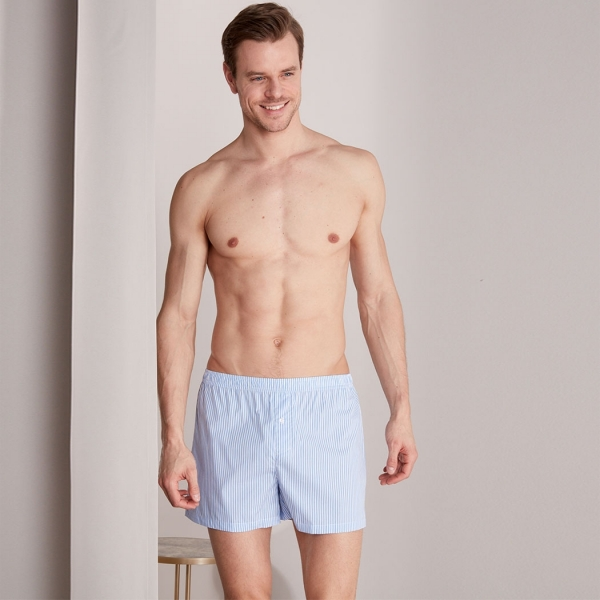 Palmers Twin Pack Men's Boxer Shorts Blue-Coloured
