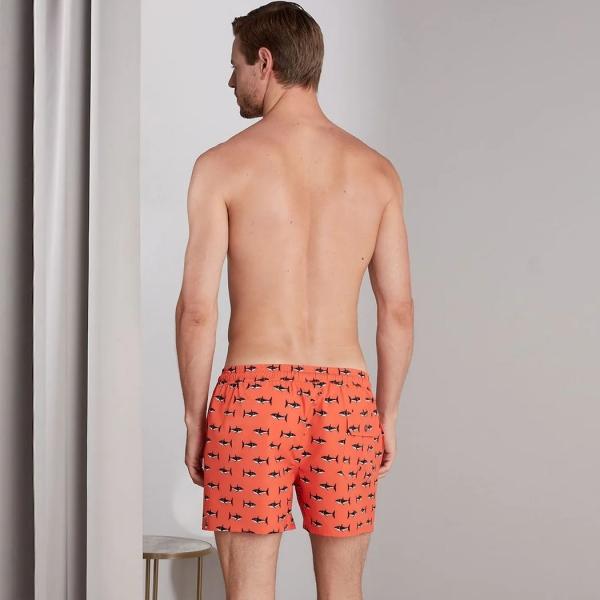 Palmers Barbados Boardie Men's Swim Shorts Orange Multicolored