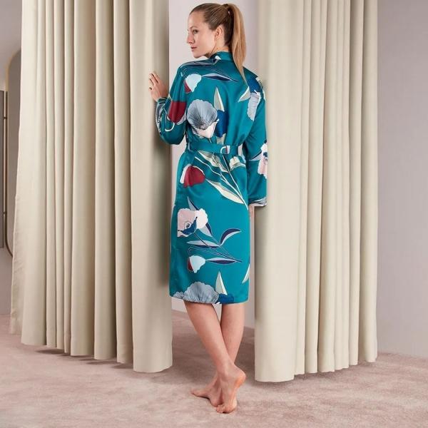 Palmers Art Bouquet Ladies Dressing Gown