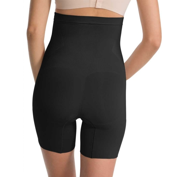 Spanx OnCore High-Waisted Mid-Thigh Short Very Black