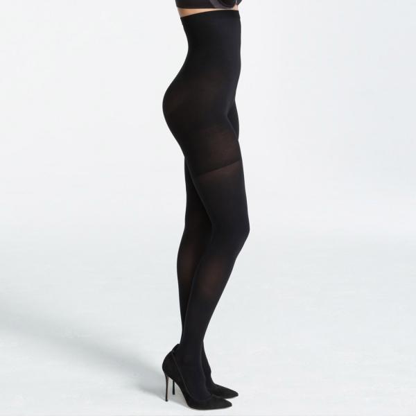 Spanx Luxe Leg High-Waisted Pantyhose Very Black 60 DEN