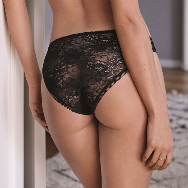 Conturelle by Felina Secret Garden Ladies Panty Black