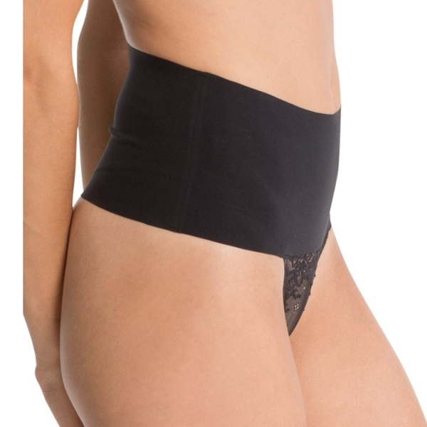 Spanx Undie-tectable Thong Με Δαντέλα Very Black