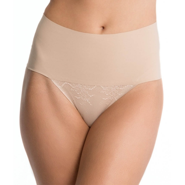 Spanx Undie-tectable Thong Με Δαντέλα Soft Nude