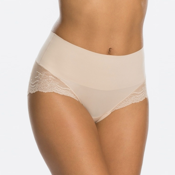 Spanx Undie-tectable Lace Hi-Hipster Panty Soft Nude