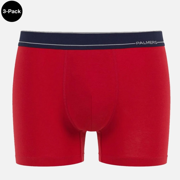 Palmers Sport Cotton Boxer Pants Red Colourfull